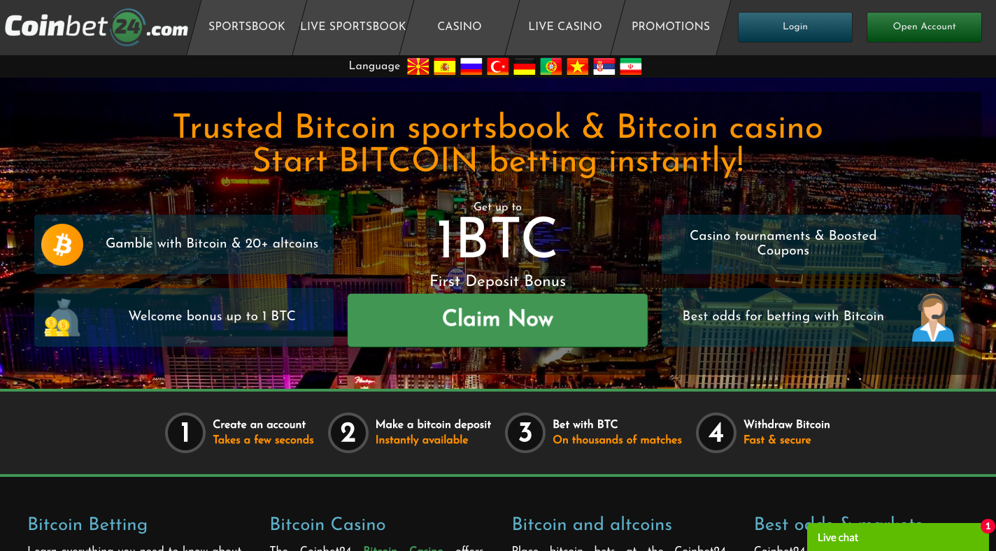 Free online bitcoin casino free spins